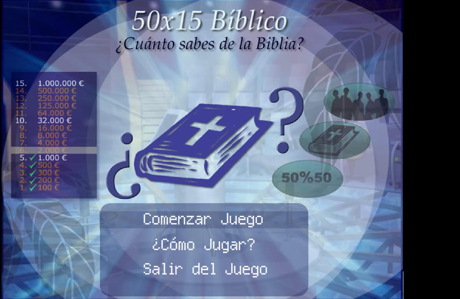 Juego gratis para interesados en la Biblia (50X15 BIBLICO)